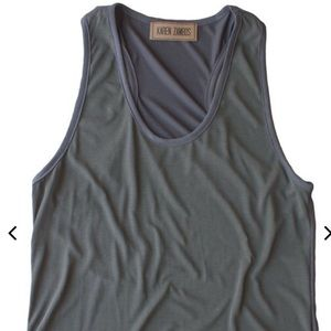 Buttery Soft, Designer Tank Top - Two Tone